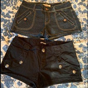 Bongo shorts and Black Express Shorts Bundle